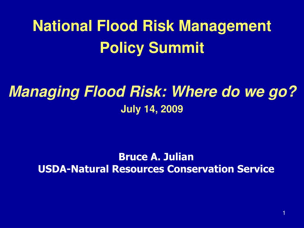 National Flood Risk Management