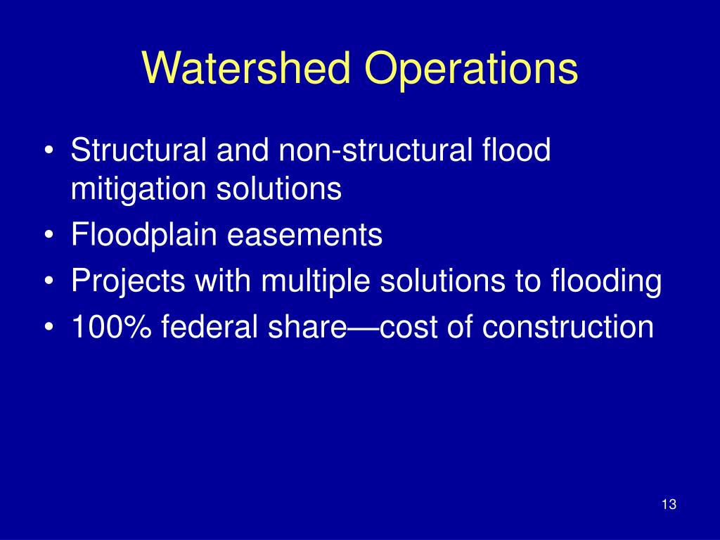 Watershed Operations