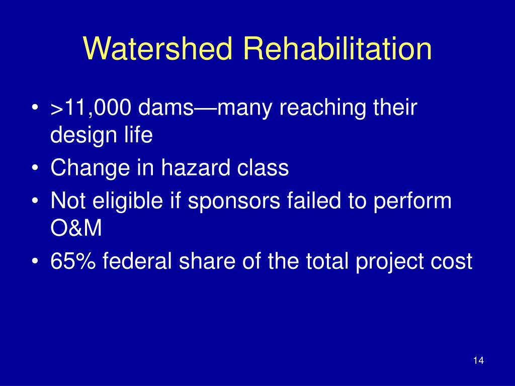 Watershed Rehabilitation