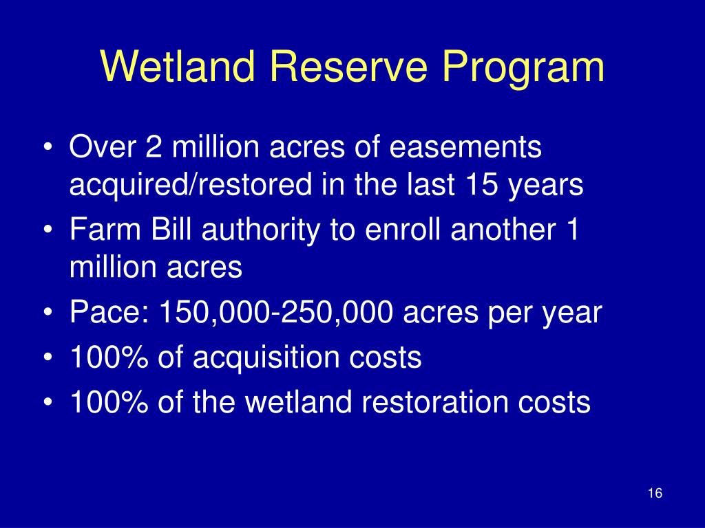 Wetland Reserve Program