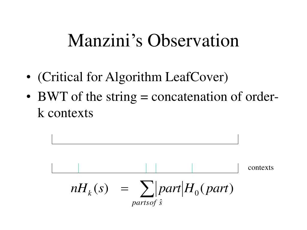 Manzini's Observation