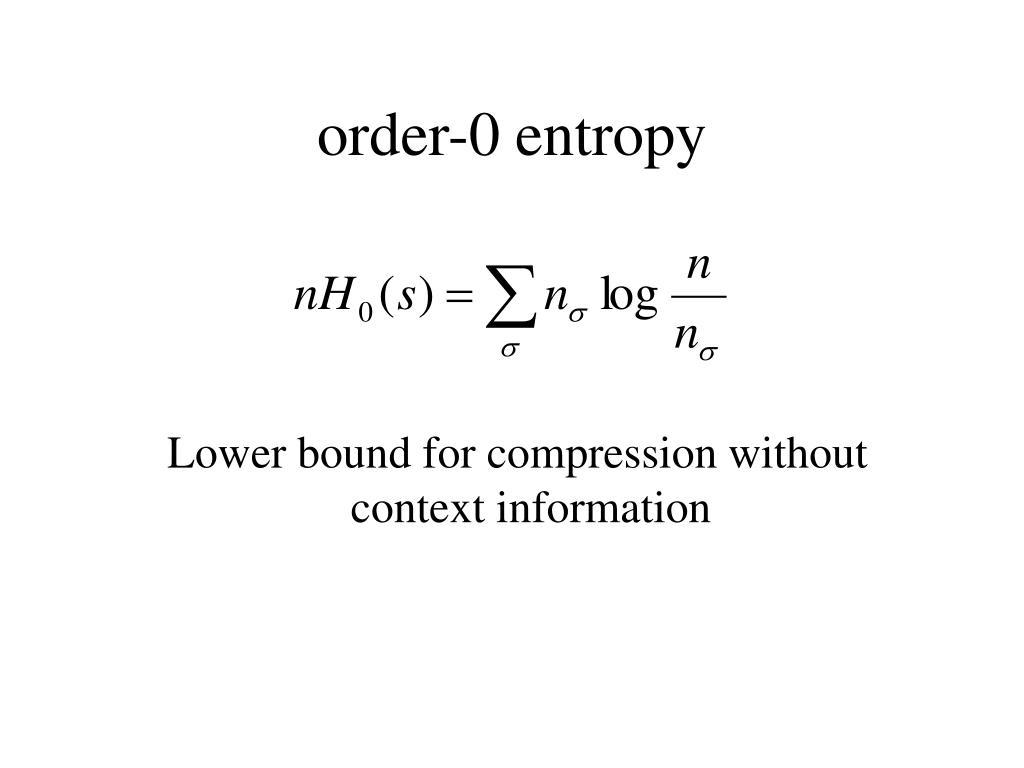 order-0 entropy