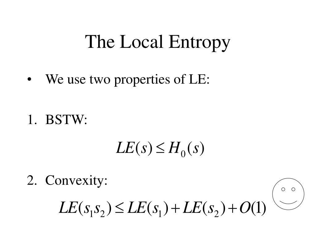 The Local Entropy