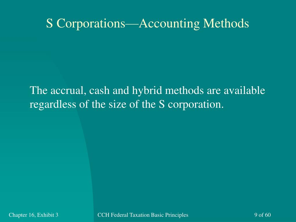 S Corporations—Accounting Methods
