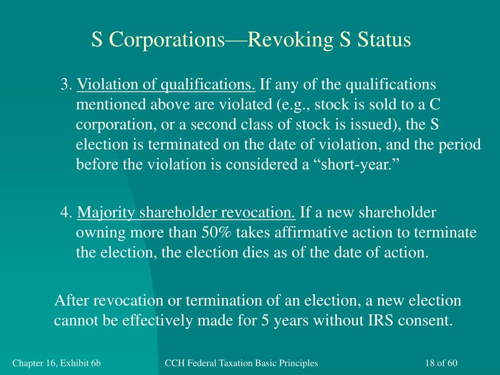 S Corporations—Revoking S Status