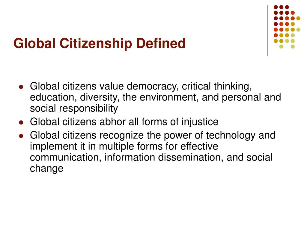 Global Citizenship Defined