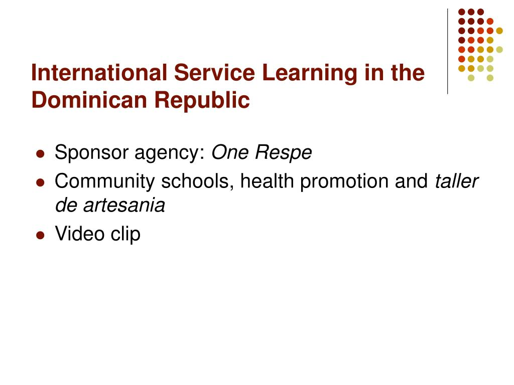 International Service Learning in the Dominican Republic