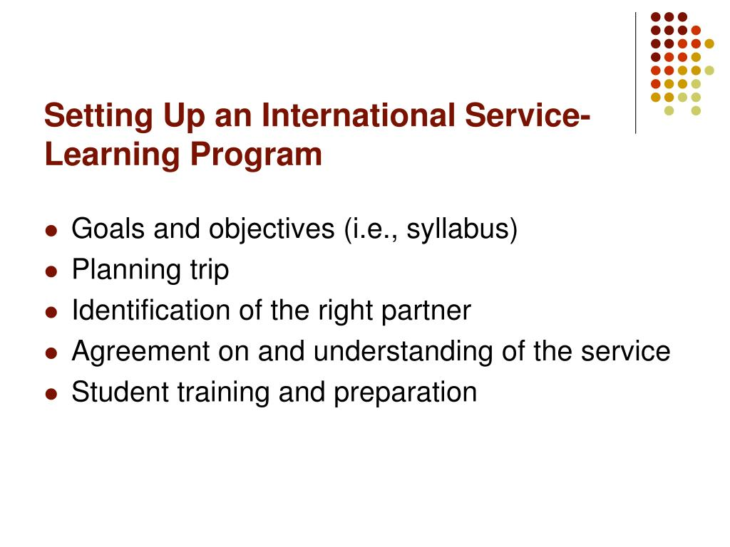 Setting Up an International Service-Learning Program