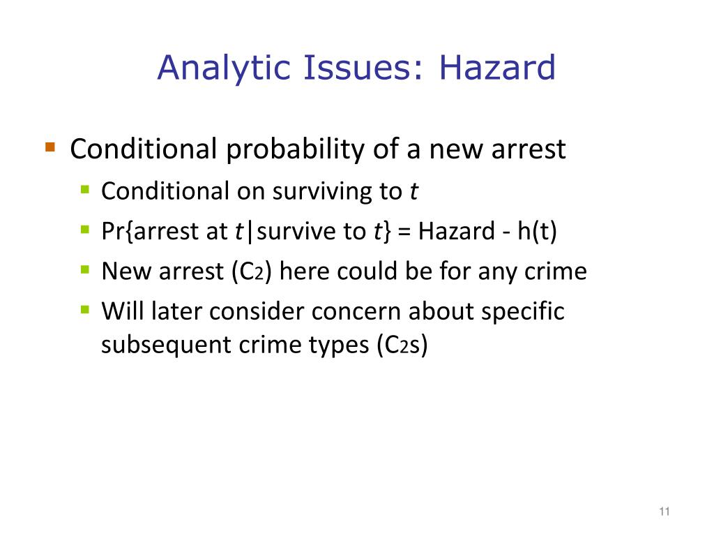 Analytic Issues: Hazard