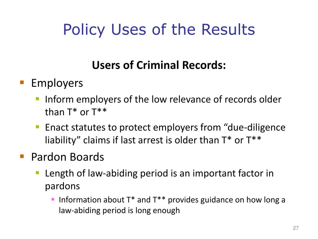 Policy Uses of the Results