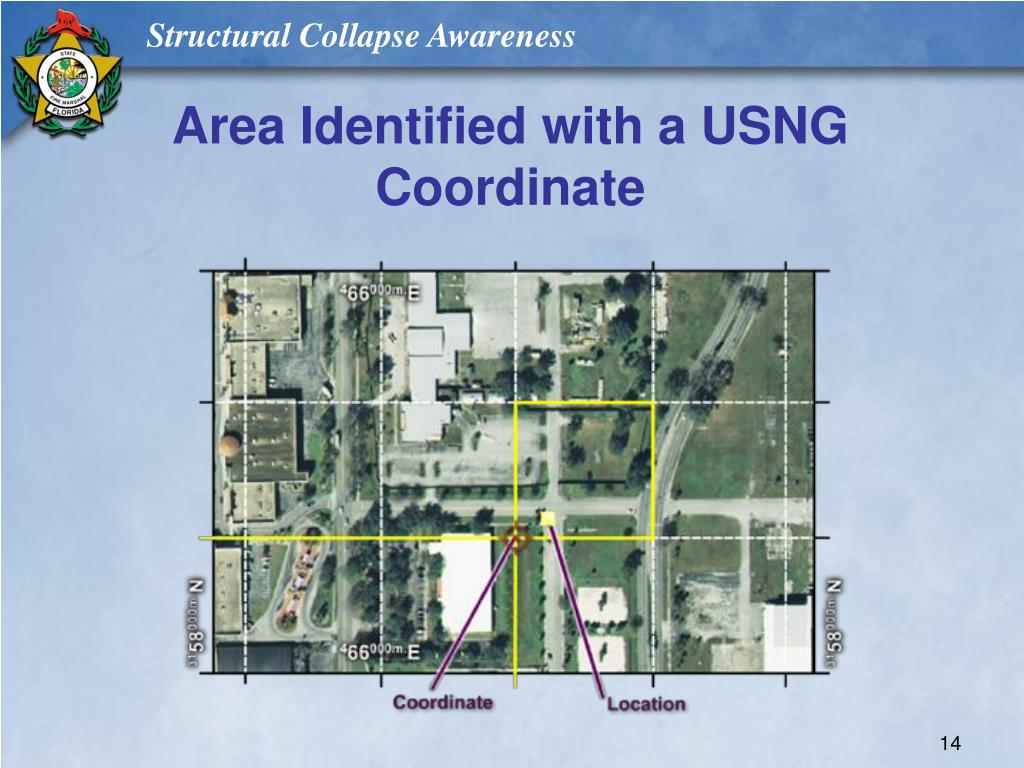 Area Identified with a USNG Coordinate