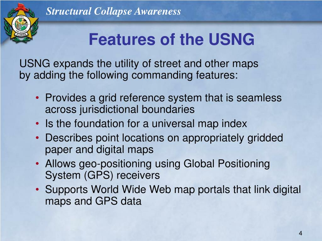 Features of the USNG