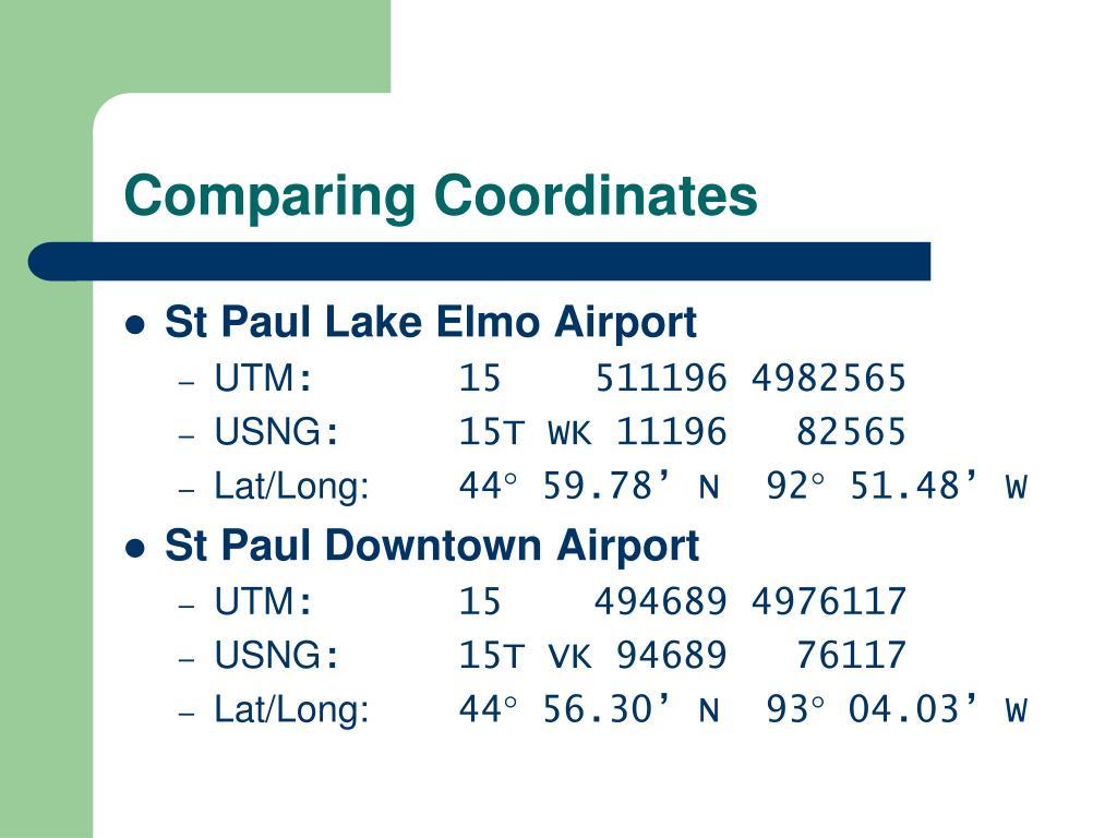Comparing Coordinates