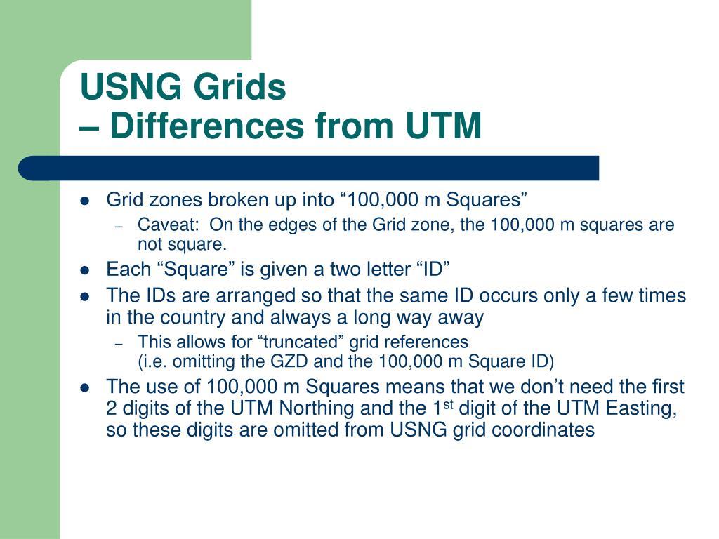 USNG Grids