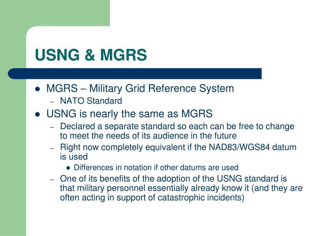 USNG & MGRS