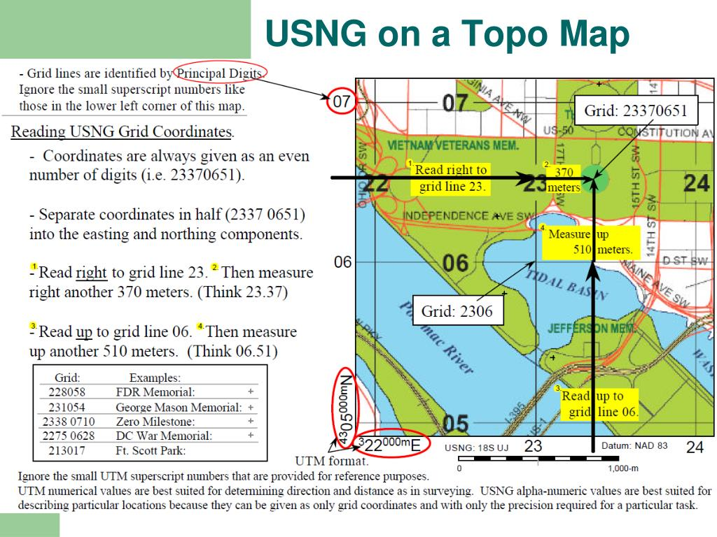 USNG on a Topo Map