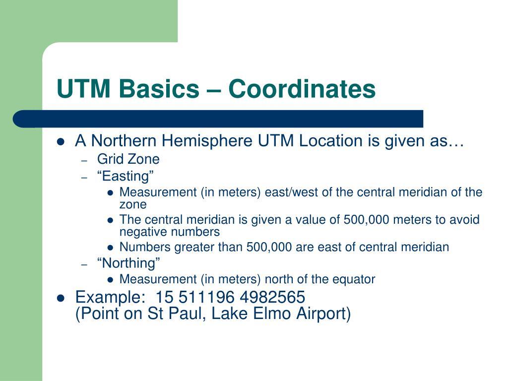 UTM Basics – Coordinates