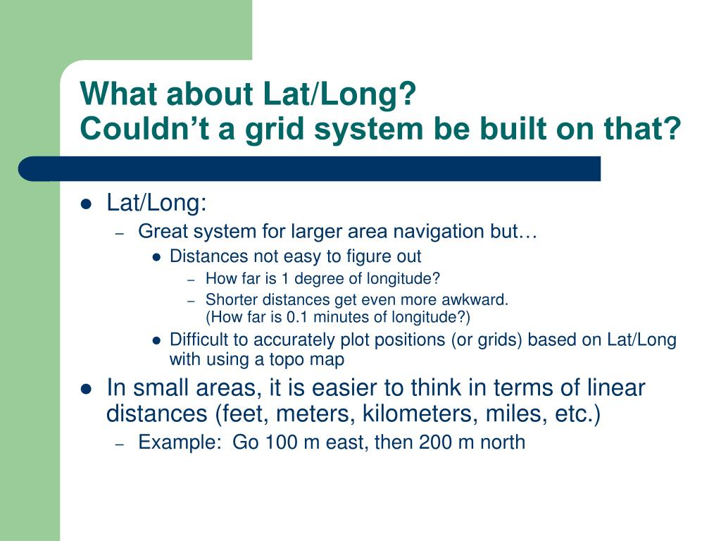 What about Lat/Long?