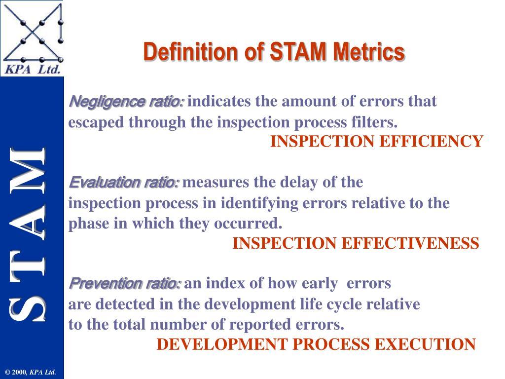 Definition of STAM Metrics