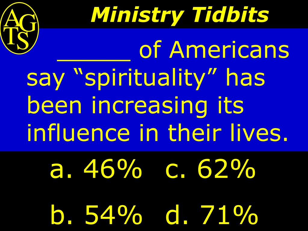 """_____ of Americans say """"spirituality"""" has been increasing its influence in their lives."""