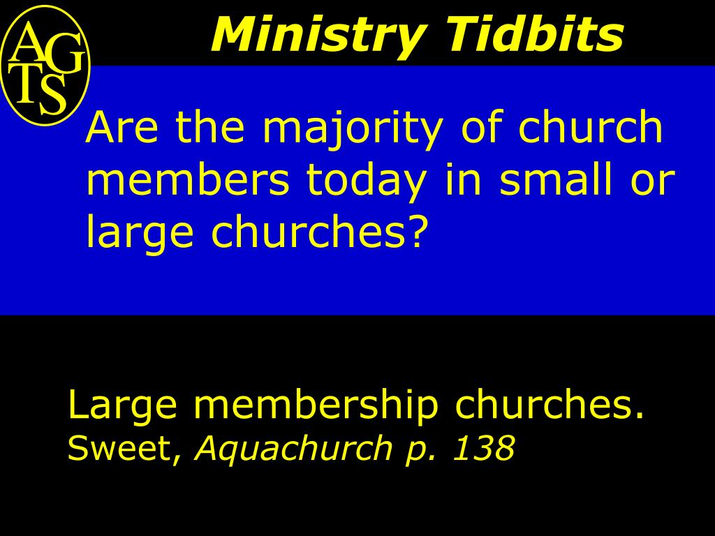 Are the majority of church members today in small or large churches?