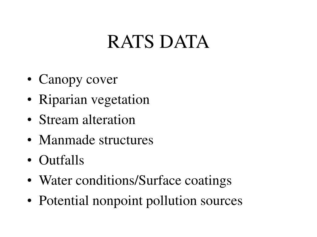 RATS DATA