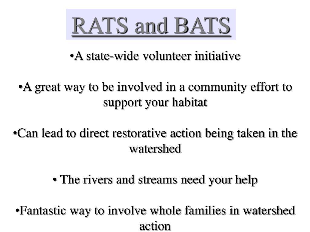 RATS and BATS