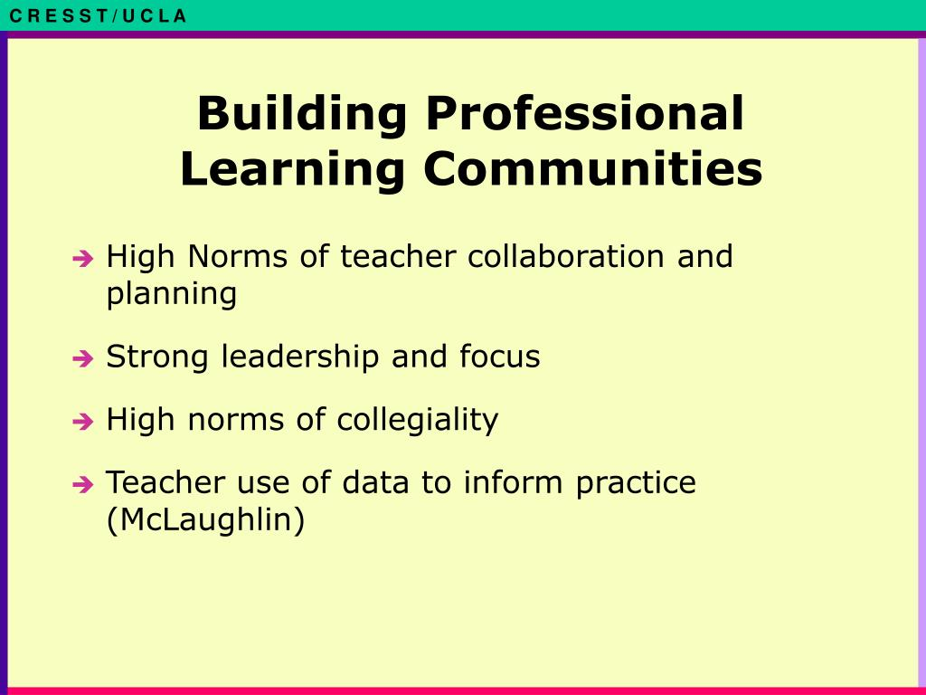 Building Professional Learning Communities