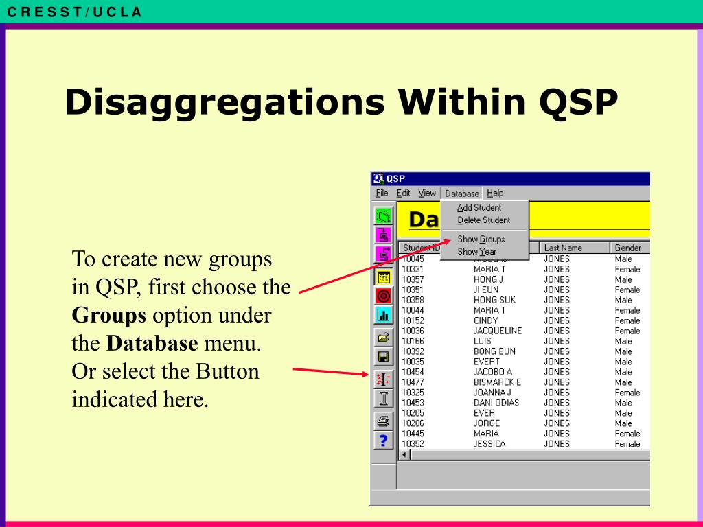 Disaggregations Within QSP
