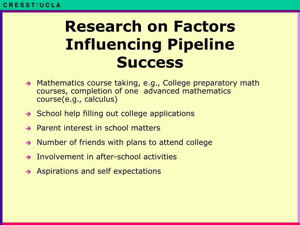 Research on Factors Influencing Pipeline Success