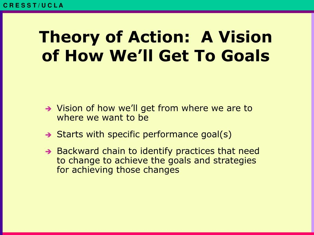 Theory of Action:  A Vision of How We'll Get To Goals