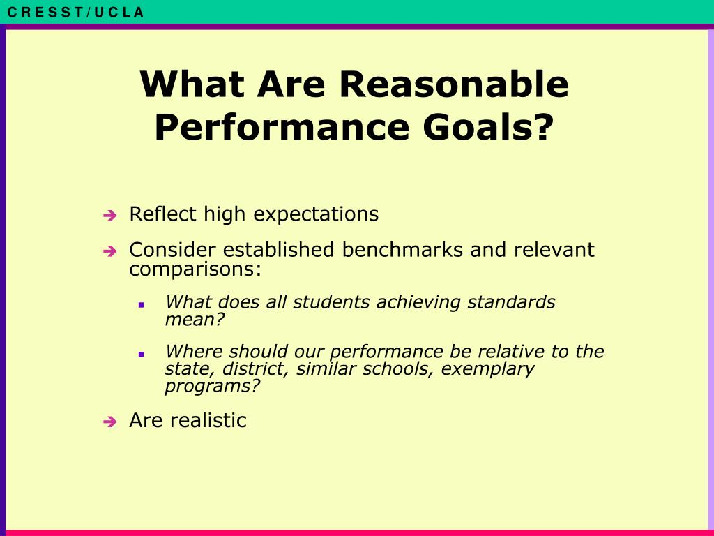 What Are Reasonable Performance Goals?