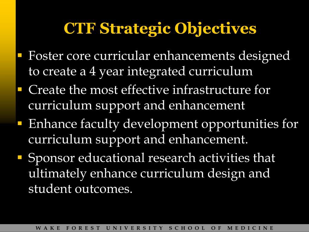 CTF Strategic Objectives