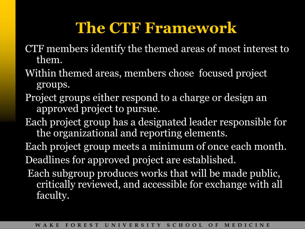 The CTF Framework