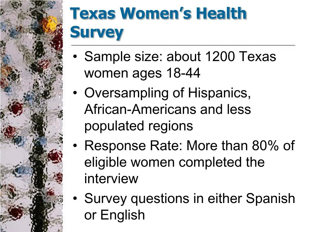 Texas Women's Health Survey