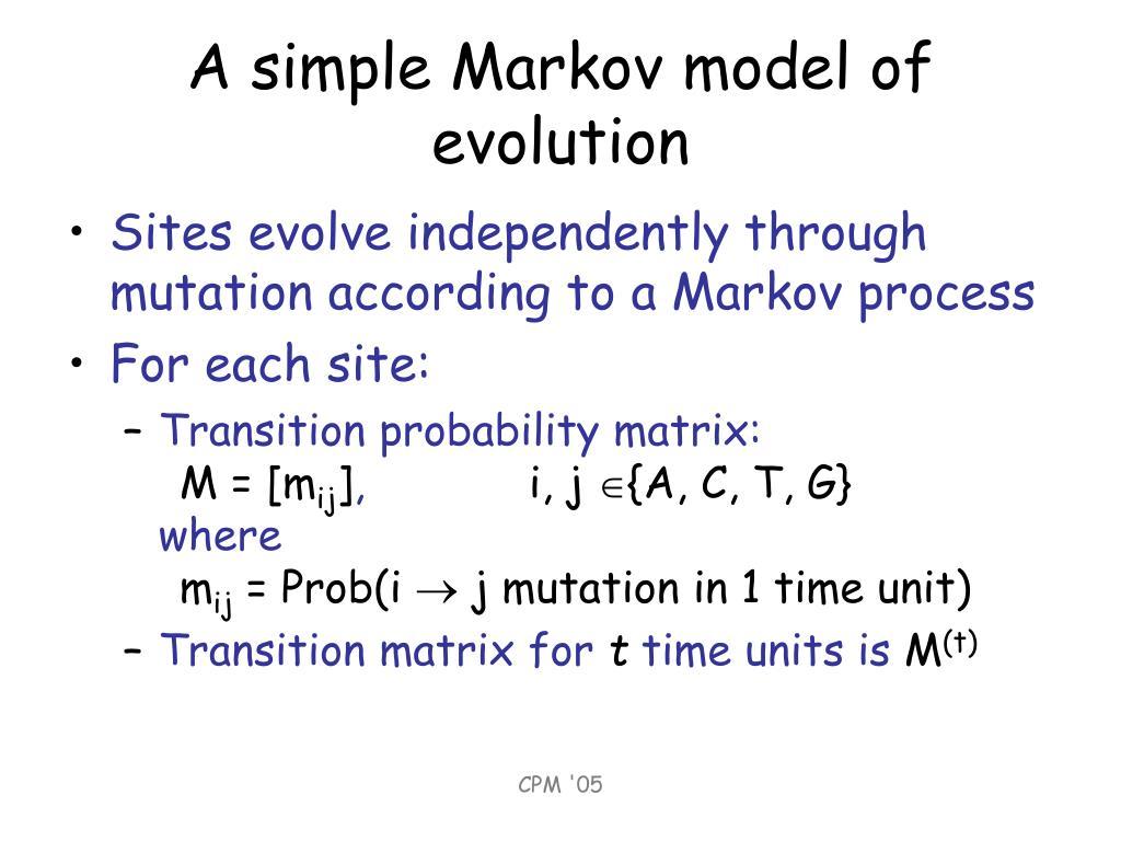 A simple Markov model of evolution