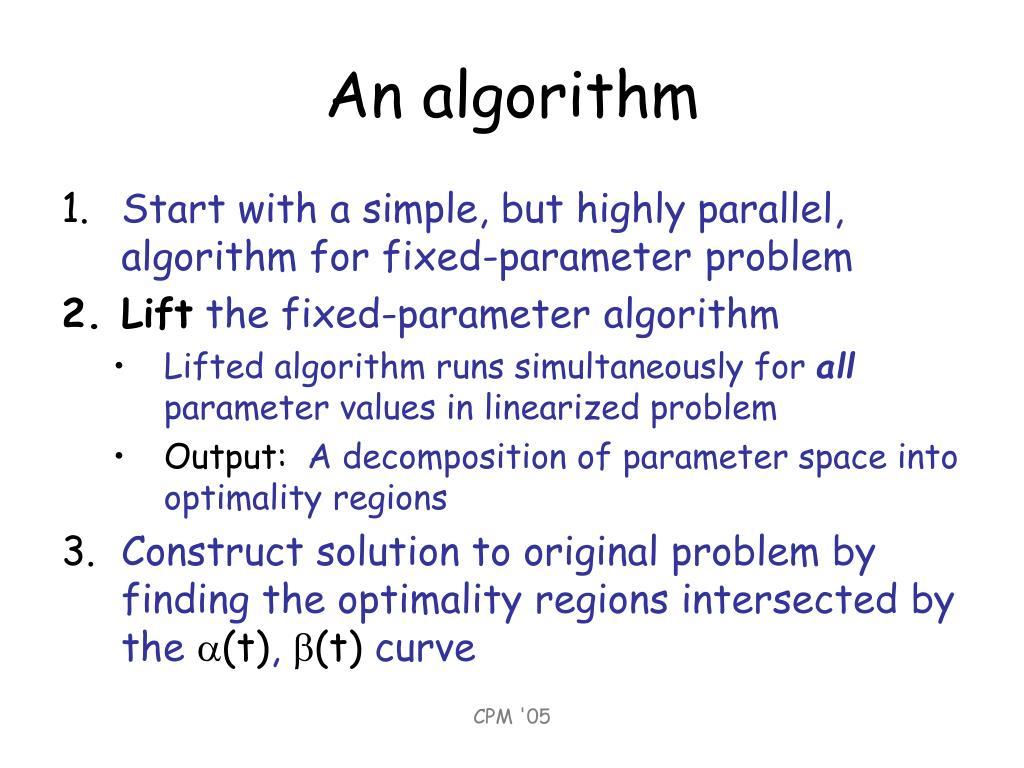 An algorithm