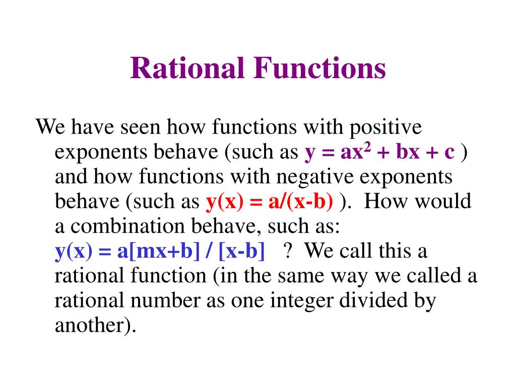 Rational Functions