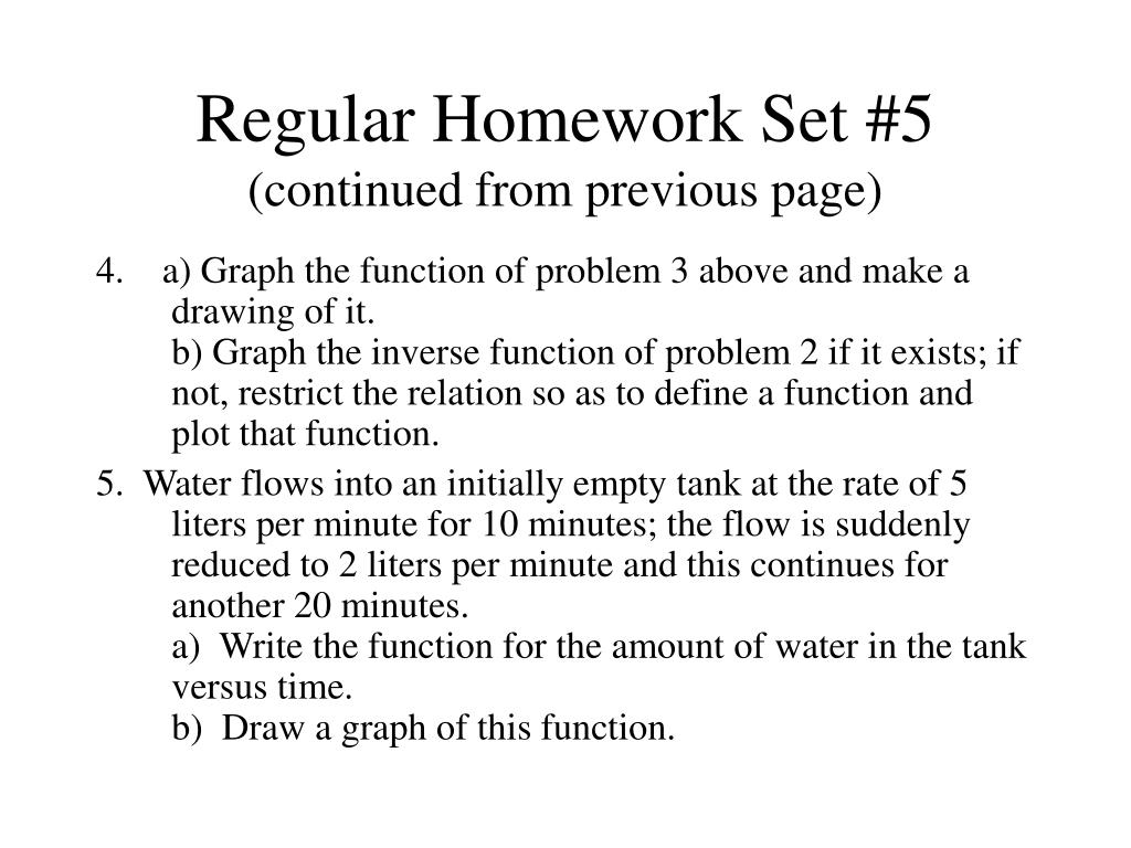 Regular Homework Set #5