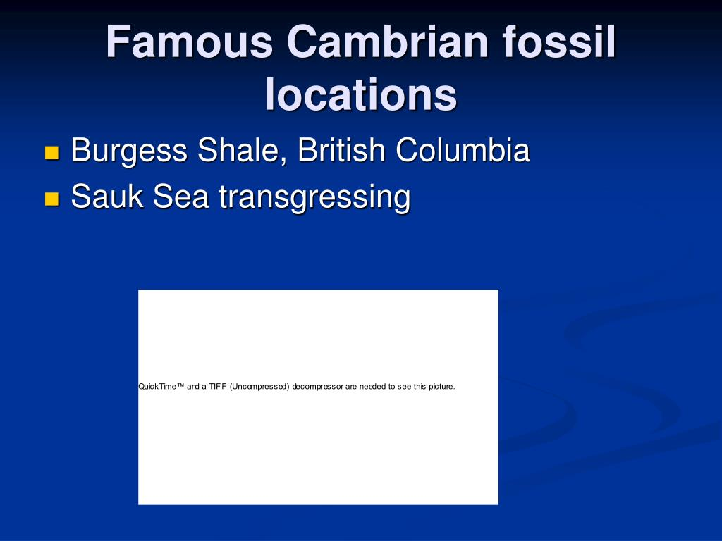 Famous Cambrian fossil locations