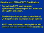 standard and lrfd aashto specifications