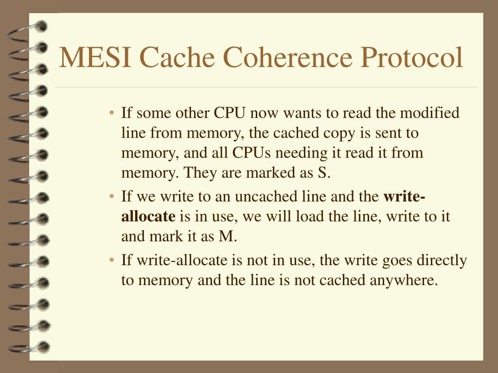 MESI Cache Coherence Protocol