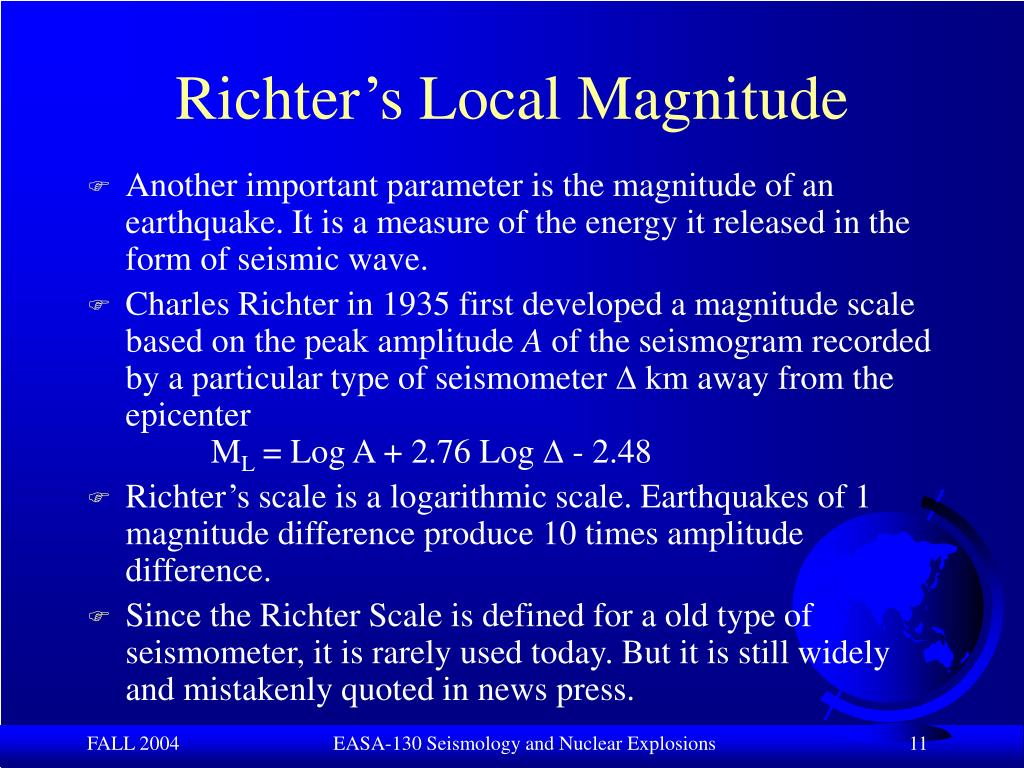Richter's Local Magnitude