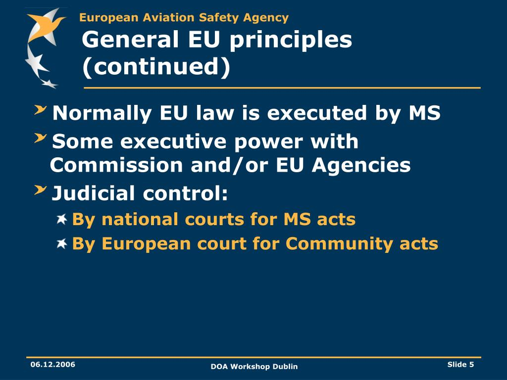 General EU principles (continued)