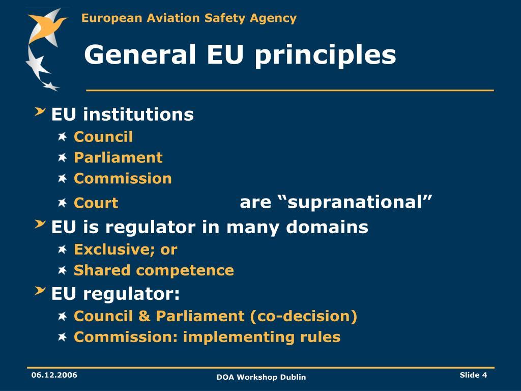 General EU principles