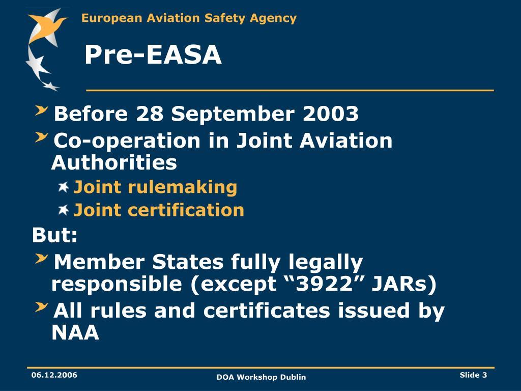 Pre-EASA