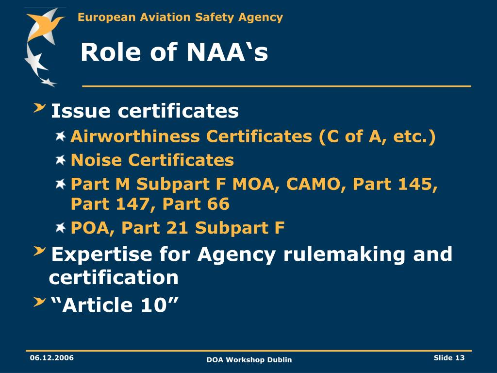 Role of NAA's