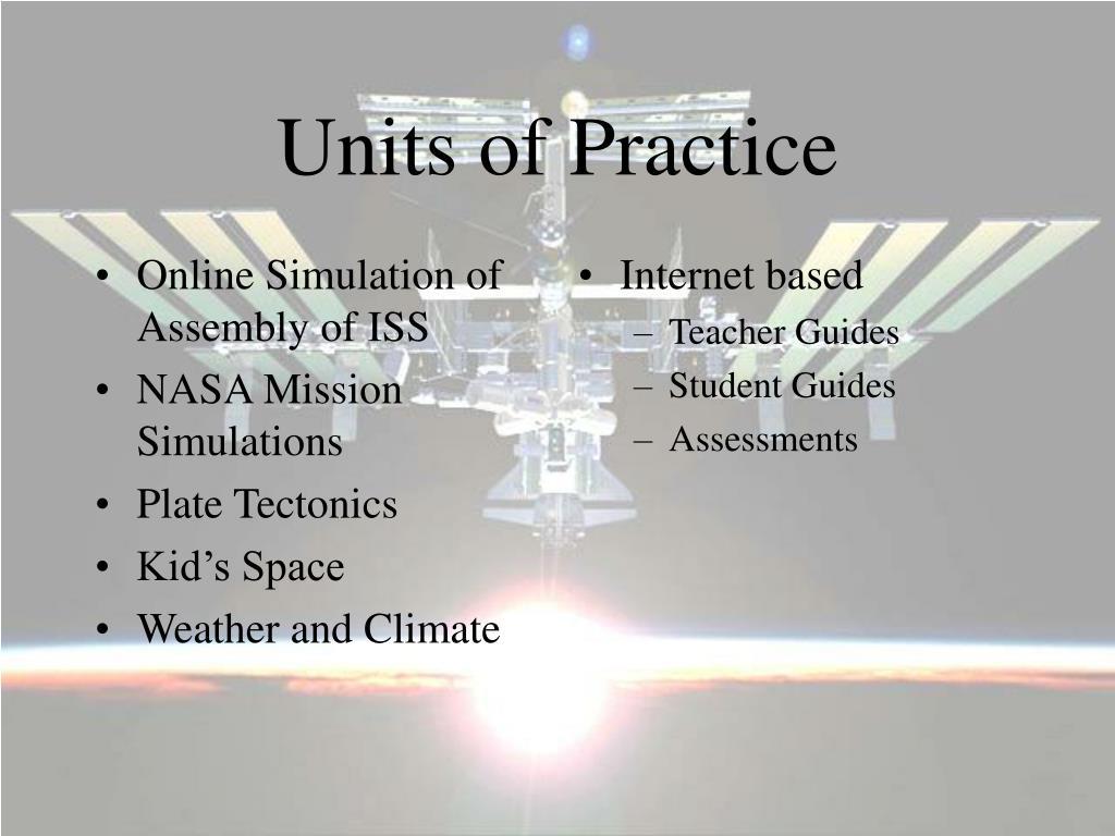 Units of Practice