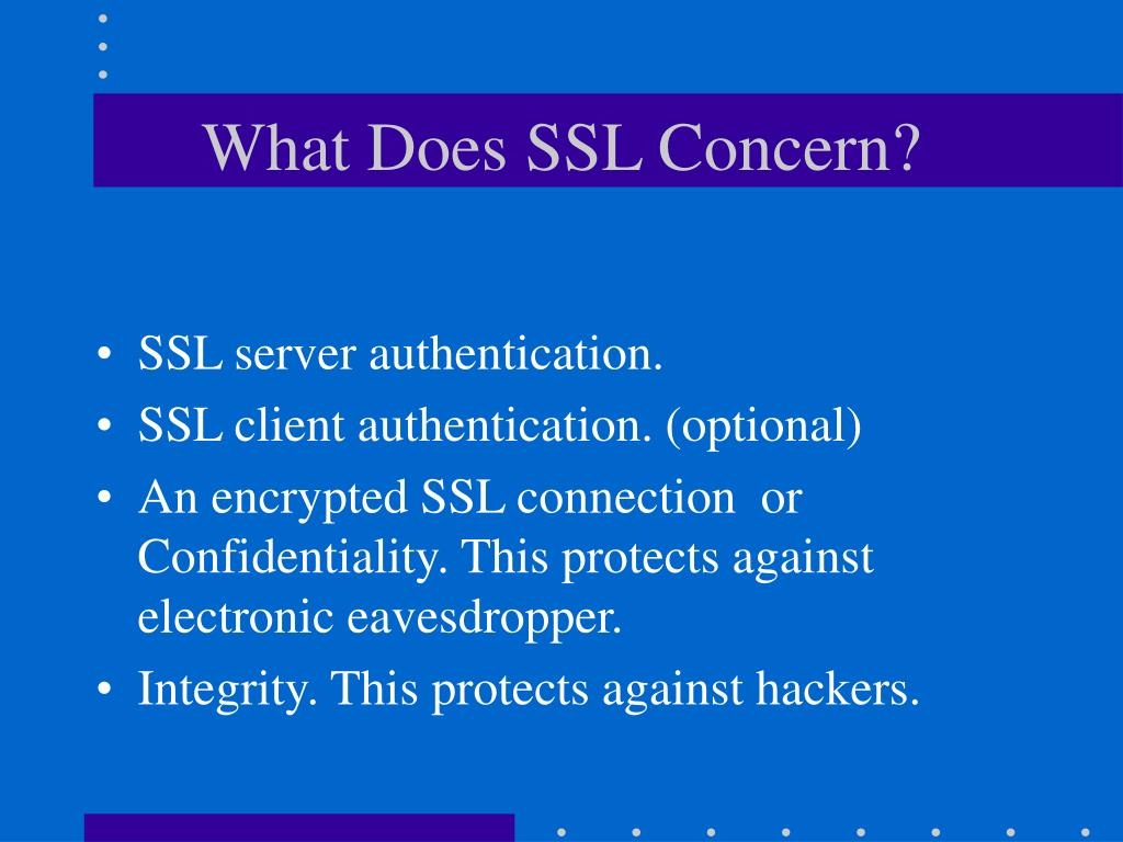 What Does SSL Concern?