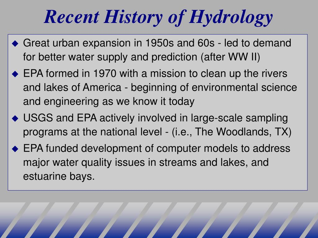 Recent History of Hydrology